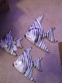 Very Old Ceramic FISH wall hangings