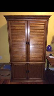 Large armoire for TV or crafts