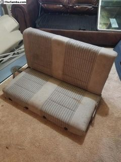 Westfalia rear bed seat with hinges