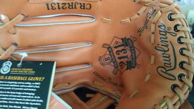 Cal Ripken autographed baseball gloves with certificate