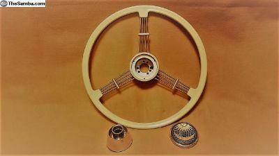 Flat Four Ivory Banjo Steering Wheel