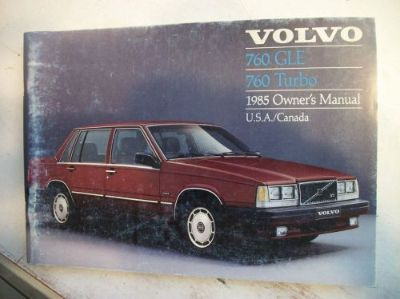 Purchase 1985 Volvo 760 Turbo & GLE Owner's Manual. Good Cond. Clear no owner info. motorcycle in Perris, California, United States, for US $17.50