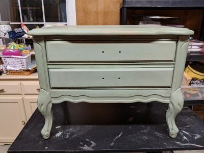 Antique 2 drawer wood table. Great shape