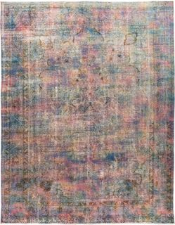 """Vintage, Hand Knotted Area Rug - 9' 6"""" x 12' 6"""""""