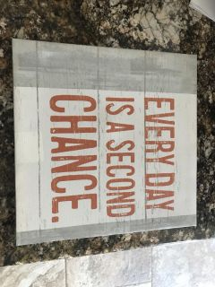 Great canvas reminder sign 12 x 12