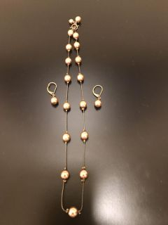 Necklace and matching earrings! Excellent condition!