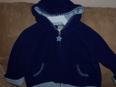 Boys Size 9 Month Fleece Hooded Jacket