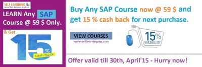 Learn Any SAP Course @ 59 $ only + 15 % Cash Back - Cash Back Sale