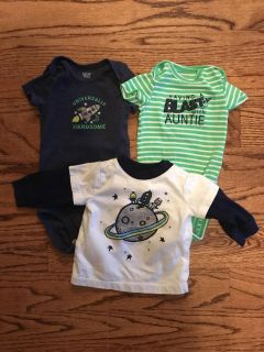 3-6 month onesies and shirt