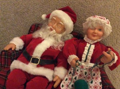 Santa & Mrs. Clause on Couch