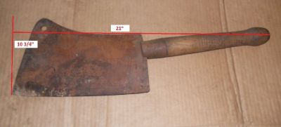 Old collectible meat cleaver