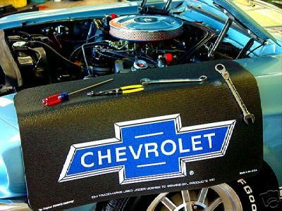 "Purchase Chevrolet Bowtie Black ""Fender Gripper"" Fender Cover motorcycle in Van Buren, Arkansas, US, for US $21.00"