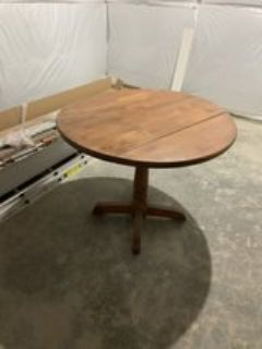 small dining table with drop down side
