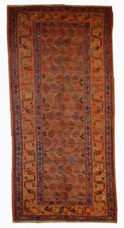 Handmade antique Persian Kurdish rug, 1B413