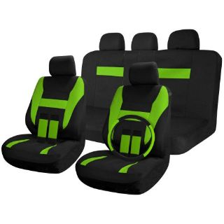 Find SUV Van Truck Seat Covers Full Set Black / Green 17pc w/Steering Wheel Cover motorcycle in Van Nuys, California, United States, for US $26.16