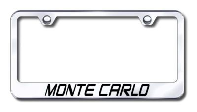 Purchase GM Monte Carlo Engraved Chrome License Plate Frame Made in USA Genuine motorcycle in San Tan Valley, Arizona, US, for US $30.98