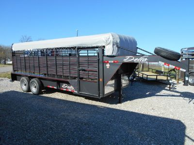 20ft Delta Cattleman Stock Trailer Come check out this sharp trailer!