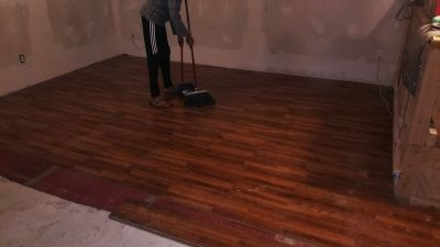 Pergo wood flooring and underlay