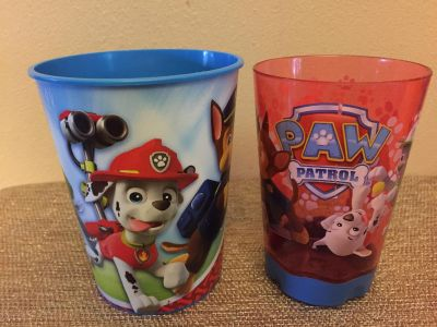 TWO PAW PATROL CUPS