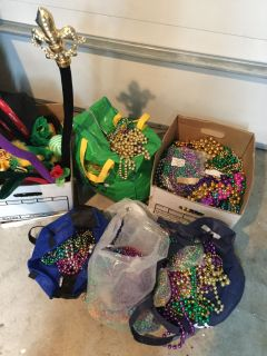 Mardi Gras beads and throws, $45 for all