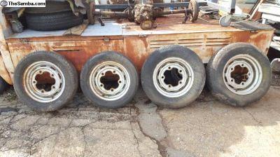 Staggered 15x4 and 15x5.5 Brazilian mangel wheels