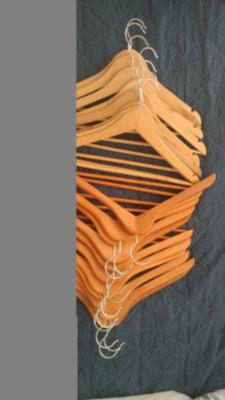 Lot of 20 Wooden Hangers. MEET AT TARGET WEEKDAYS AFTER 40