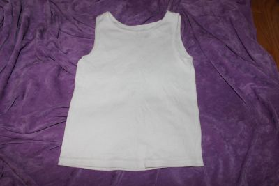 Fruit of the Loom Size Medium (I would say 8 ) White Tank Top