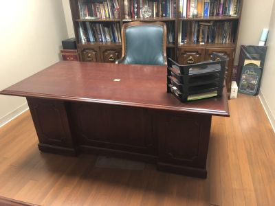 Desk and Filing Cabinet