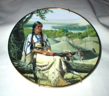 "Vtg Indian Collector Plate - ""Minnehaha"" - Noble American Indian Women by David Wright"