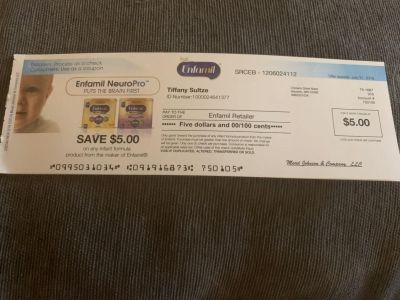 6 $5 Enfamil checks looking to trade