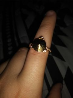 Gold colored ring