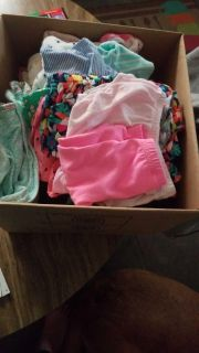 Box lot of 0 to 6 month clothes