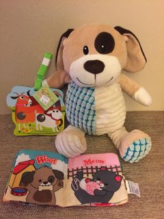 SMALL BOYS SET - POP A DOT BOOK $5.99 DANDEE PUPPY AND SMALL CRUNCHY BOOK