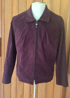 POSITIVE ATTITUDE Sz16 Jacket/Blazer - lined. Deep Plum mole skin. EUC. Great for layering & to wear with jeans or to dress up