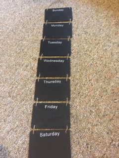 Days of the week chalkboard