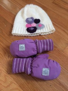 Toddler hat & thinsulate mittens