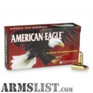 For Sale: $7.50 Federal American Eagle 9mm 115 Gr 50rds ($7.50 a box after rebate)