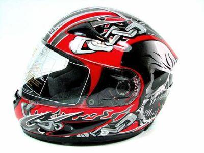 Buy MASEI 826/816 RED SKULL FULL FACE MOTORCYCLE HELMET SIZE LARGE motorcycle in Fullerton, California, US, for US $24.99