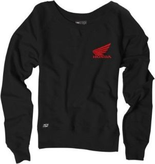Purchase 100% Logo Womens Pullover Sweatshirt Honda Red/Black motorcycle in Holland, Michigan, United States, for US $42.98