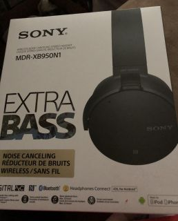 Sony Extra Bass noise canceling wireless headphones
