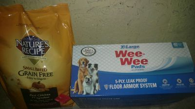 12lb Dog Food 40 count Puppy Pads XL