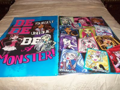 Monster High Bedroom Set and extras