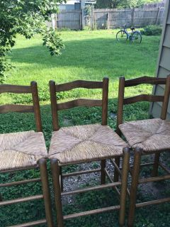 3 cane bar stools good condition price is for all 3