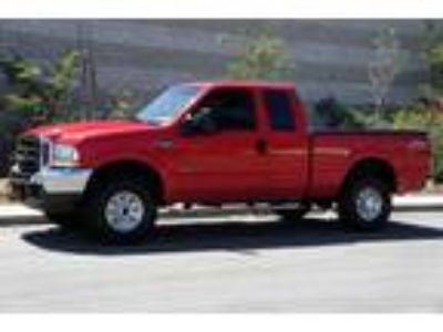 2002 Ford F-250 Red