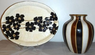Home Decor - Hand Painted Serving Platter -OR Vase ~$10 EACH