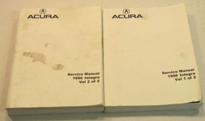 Sell 1996 Acura INTEGRA Factory OEM Service Repair Shop Manual Book SET motorcycle in Bethpage, Tennessee, United States, for US $89.90
