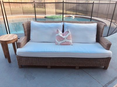 Two Pottery Barn Sofas.