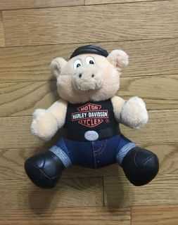 Motor cycle Harley-Davidson pig. Cool outfit.
