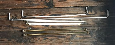 Lot of 8 curtain rods various sizes. Must be picked up in Wesleyville by Friday 8/10 or sooner due to moving.