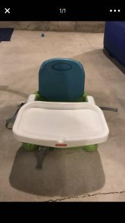 Portable booster seat with tray